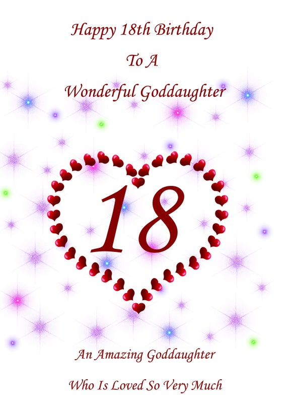 Geburtstagskarte Text 18.Patenkind 18 Geburtstagskarte