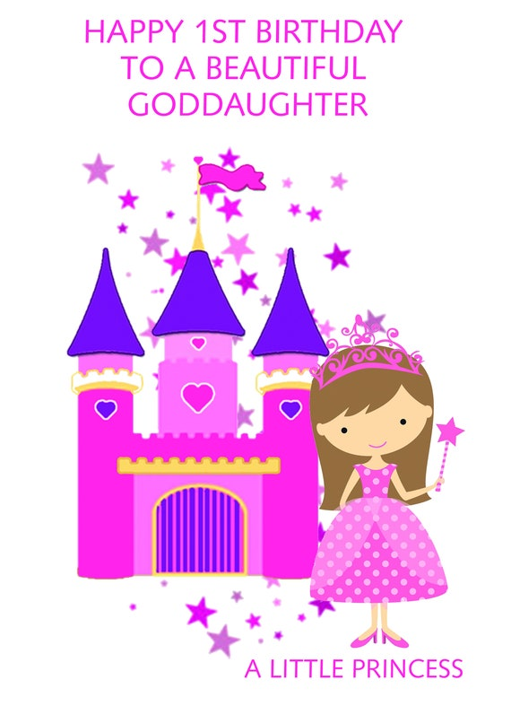 Goddaughter 1st Birthday Card Etsy