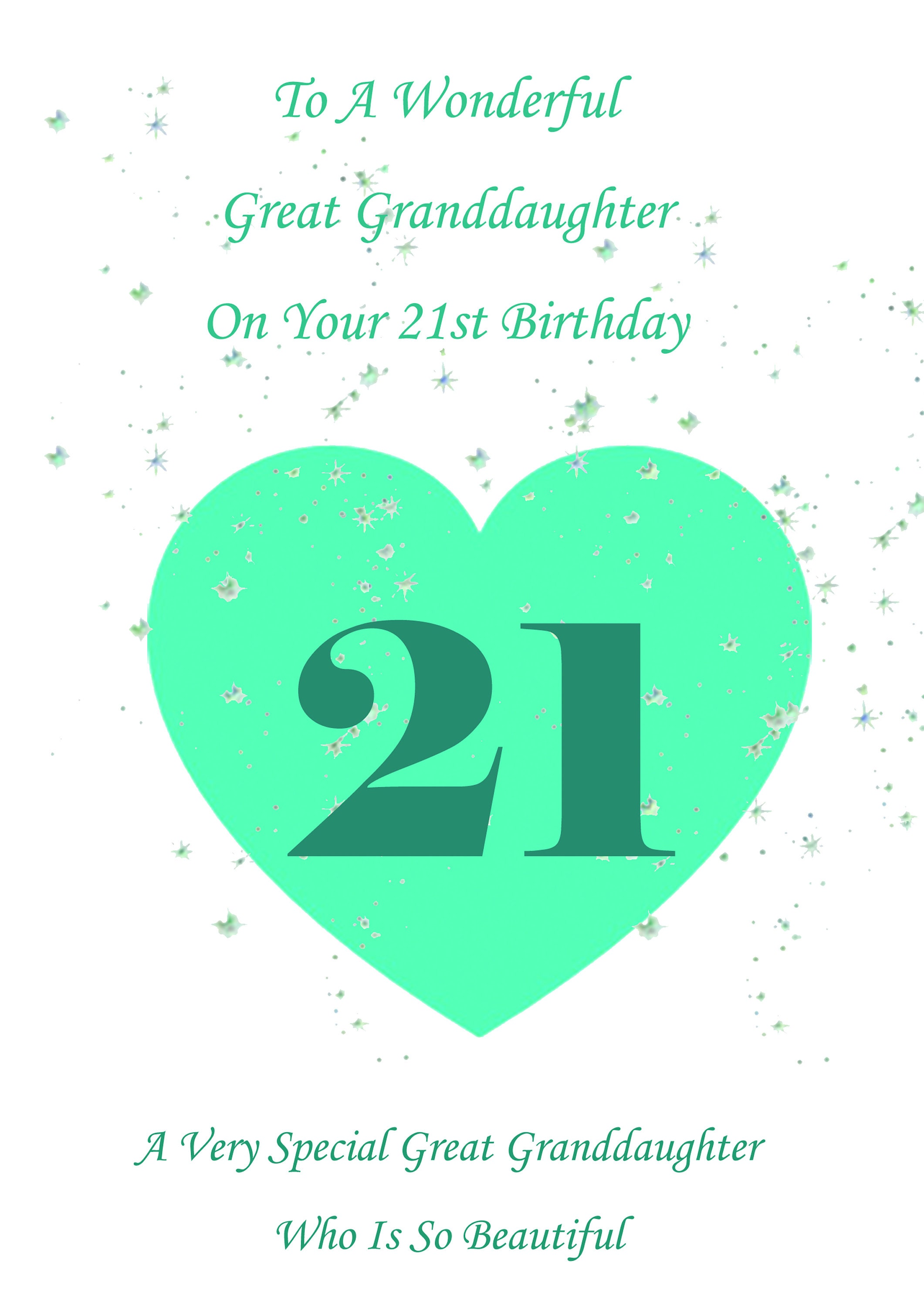 Great Granddaughter 21st Birthday Card