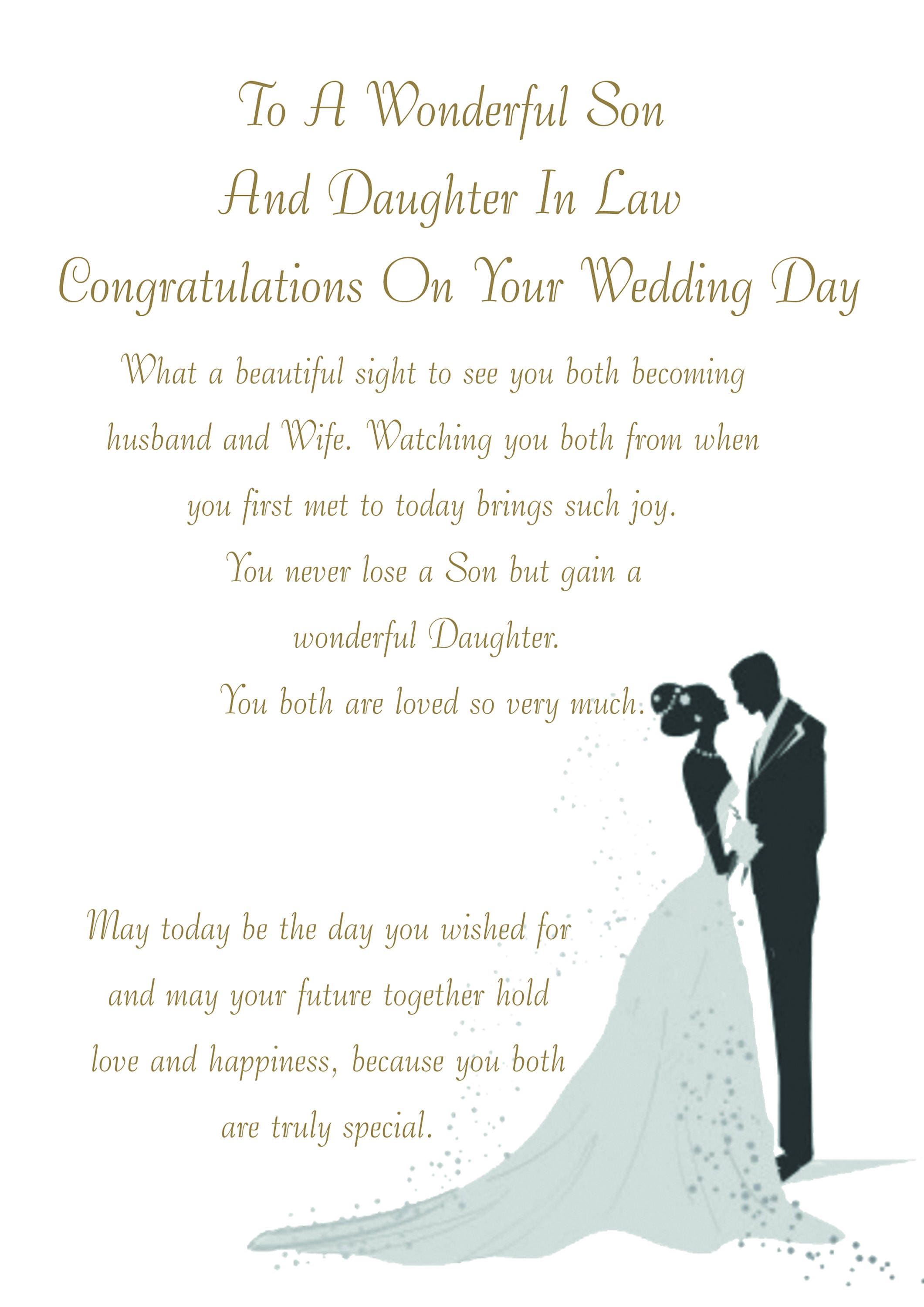 Son Daughter In Law Wedding Card