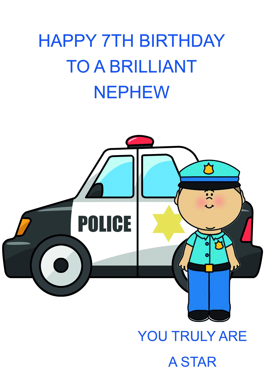 Nephew 7th Birthday Card
