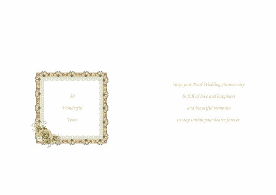 Grandson /& Granddaughter in Law Pearl Anniversary Card