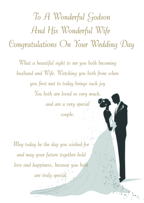 godson wife wedding card
