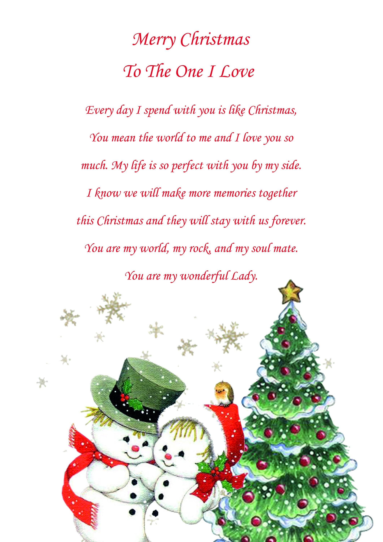 One I Love Female Christmas Card Cute