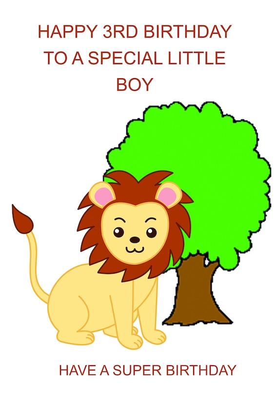 Boy 3rd Birthday Card Etsy