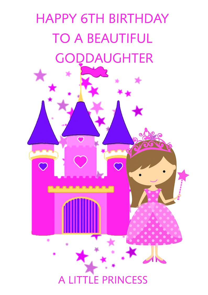 Goddaughter 6th Birthday Card