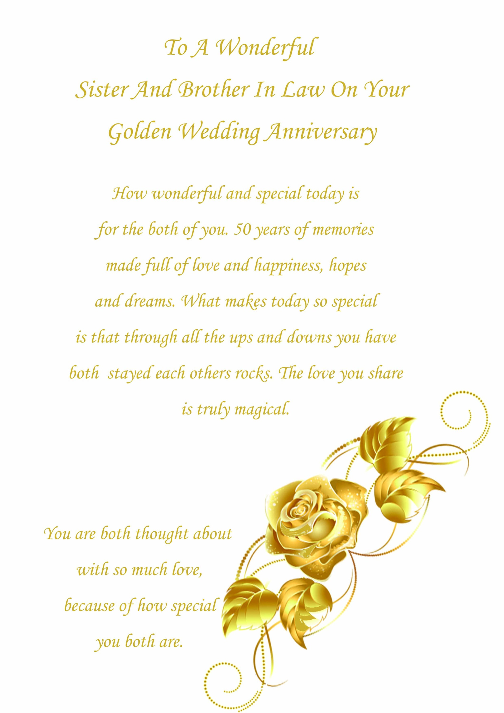 ANNIVERSARY CARD ~ BROTHER /& SISTER-IN-LAW