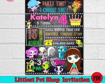Littlest Pet Shop Invitation Birthday Party Printables Decor Instant Download