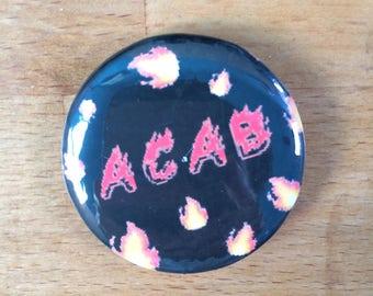 Badge ACAB flames