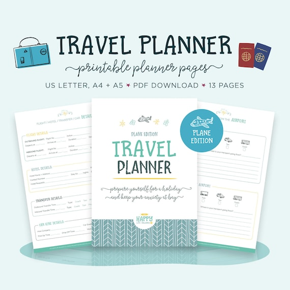 Travel Planner Vacation Planner Kit Trip Planner Packing | Etsy