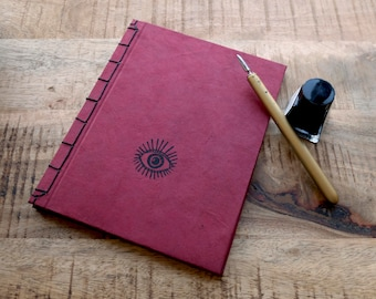 Handmade blank book using japanese binding