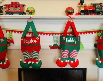 PRE-ORDER LISTING / Elf Family Stockings / Personalized Family Stockings / Elf Stockings / Matching Christmas Stockings / Family Stockings