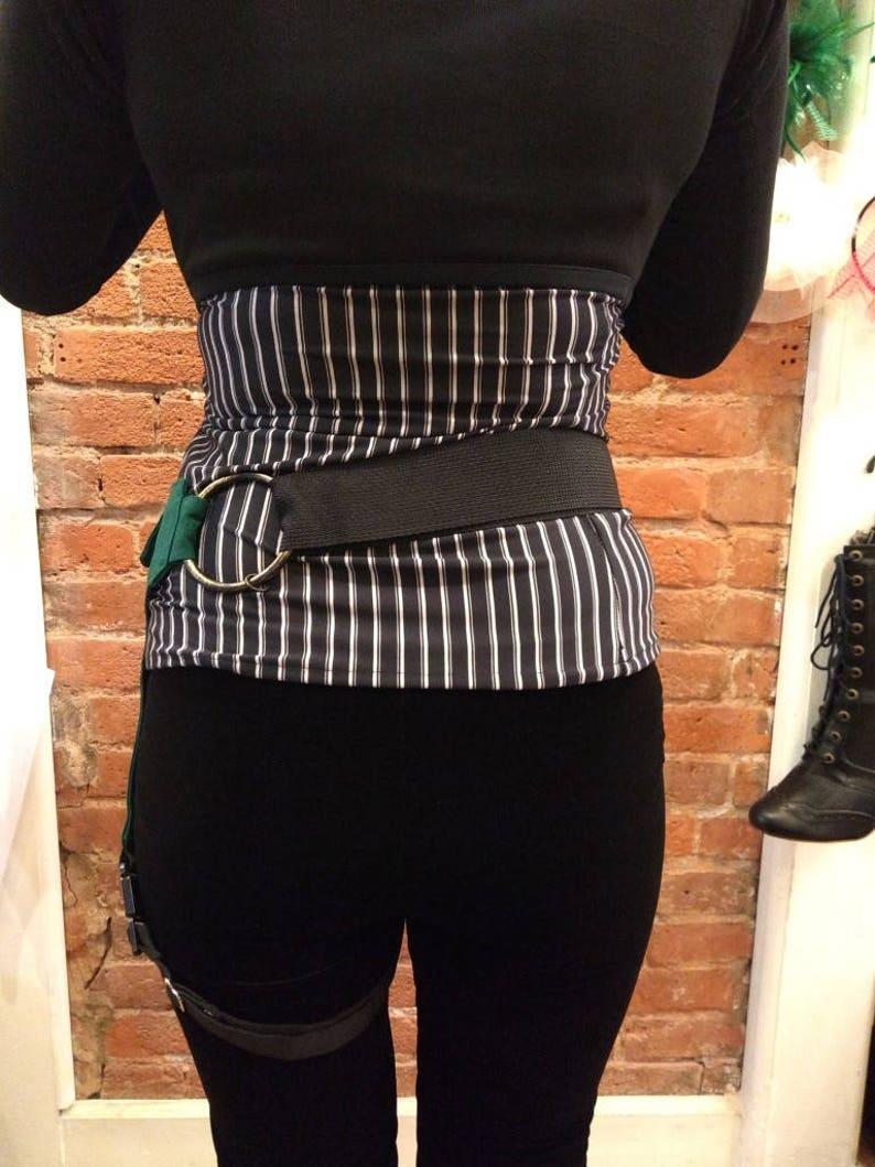 Steampunk Pocket Belt Green