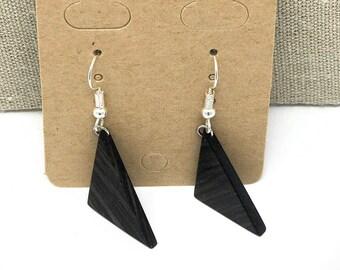 Exotic African Blackwood earrings