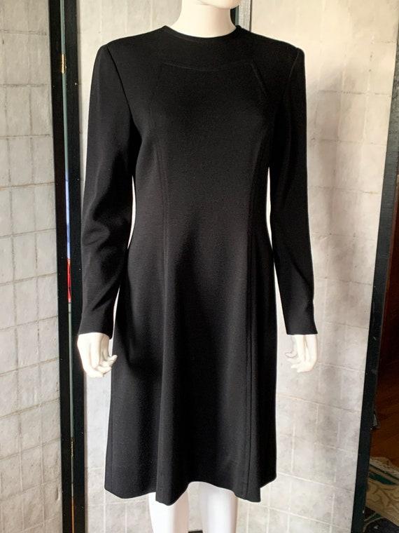 Pauline Trigere Black Wool Dress - image 8