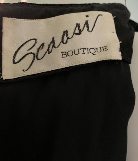 Arnold Scaasi Boutique Black Velvet and Gold Embr… - image 6