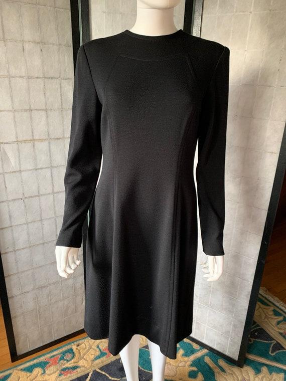 Pauline Trigere Black Wool Dress - image 6