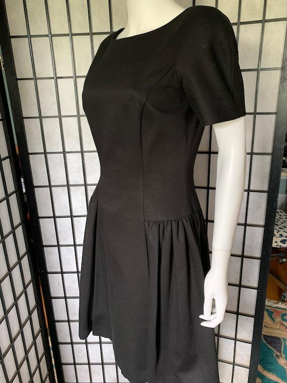 Arnold Scaasi Black Cotton Dress - image 2