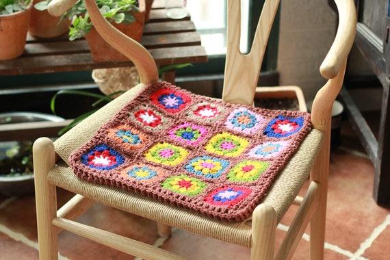 Floral Seat Cushion Padgranny Square100 Handmade Retro Seat Etsy