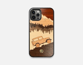 Off Road - Real Wood iPhone Case - iPhone 12 Pro/Max/Mini, 11/11 Pro/Max, XR, XS Max, X/XS, 7/8/Plus - Made in Canada by Keyway Designs