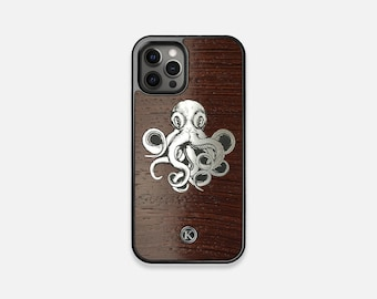 Prize Kraken - Real Wood iPhone Case - iPhone 12 Pro/Max/Mini, 11/11 Pro/Max, XR, XS Max, X/XS, 8/7/Plus - Made in Canada by Keyway Designs