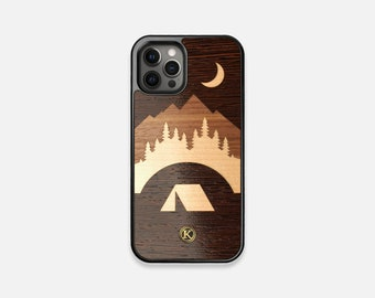 Woodland - Real Wood iPhone Case - iPhone 12 Pro/Max/Mini, 11/11 Pro/Max, XR, XS Max, X/XS, 8/7, 8/7 Plus - Made in Canada by Keyway Designs