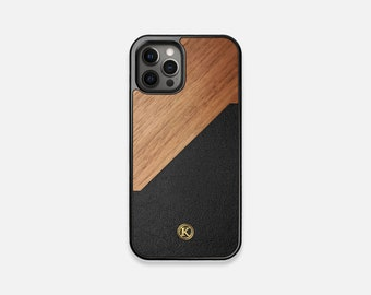 Walnut Rift - Real Wood iPhone Case - iPhone 12 Pro/Max/Mini, 11/11 Pro/Max, XR, XS Max, X/XS, 8/7/Plus - Made in Canada by Keyway Designs