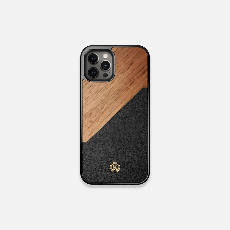 Walnut Rift  Real Wood iPhone Case  iPhone 12 Pro/Max/Mini image 1