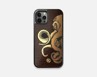 Kraken - Real Wood iPhone Case - iPhone 12 Pro/Max/Mini, 11/11 Pro/Max, XR, XS Max, X/XS, 8/7, 8/7 Plus - Made in Canada by Keyway Designs
