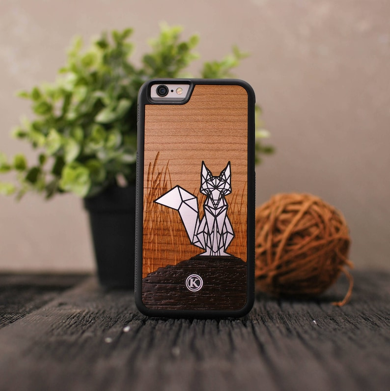 quality design 475d8 f0df2 Silver Fox - Real Wood iPhone Case - iPhone XR, Xs Max, X/Xs, 8/7, 8/7  Plus, 6s, 6s Plus, SE/5s - Made in Canada by Keyway Designs
