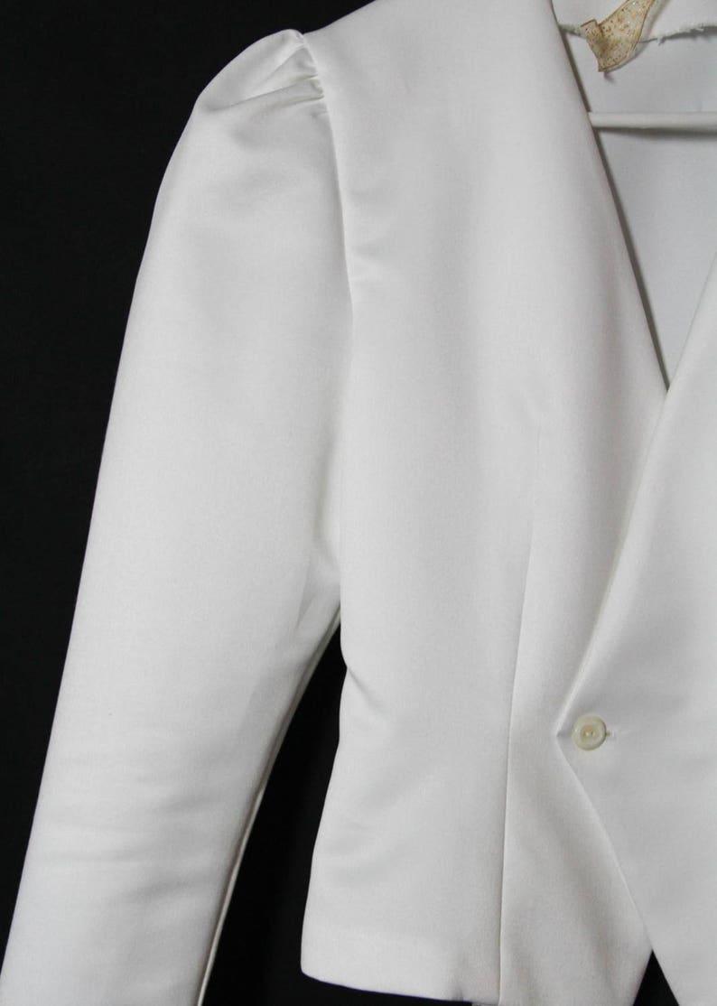 Jacket white Blazer 1980/'s vintageromanticblouse size 38 vintage chic