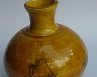 Amber landscape bottle
