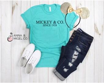 2385e3f17 MICKEY & CO SHIRT | Tiffany And Co Mickey | Mickey And Company Tee | Disney  Shirt | Disney Vacation | Breakfast At Tiffanys | Mickey Ears