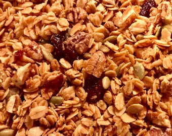 Maple Pecan Granola - Made with Pure Vermont Maple Syrup and Organic Oats - Free Shipping