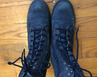 43dfb78b527bc Forest Green 90s Leather Lace up Combat Boots