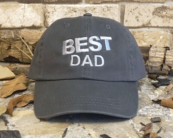 abef6a8e0e5 Best Dad Dyed Cotton Twill Cap