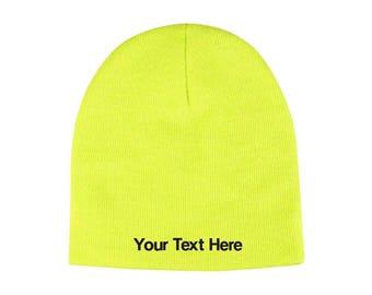 0137f0c2a25 Customized Neon Acrylic Beanie