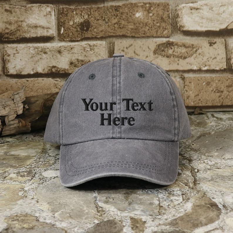 8c289c830 Customized Washed Cotton Cap
