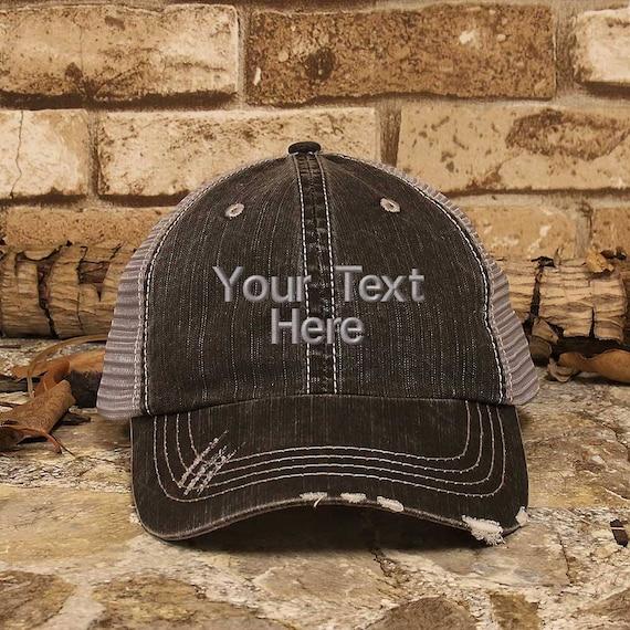 Customized Trucker Hat Personalized Baseball Cap Distress  18cd62487e0