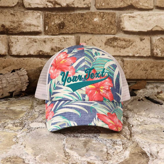 536f2f397d778 Customized Swoosh and Tail Floral Mesh Cap