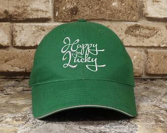 Happy Go Lucky St. Patrick's Day Low Profile Cap
