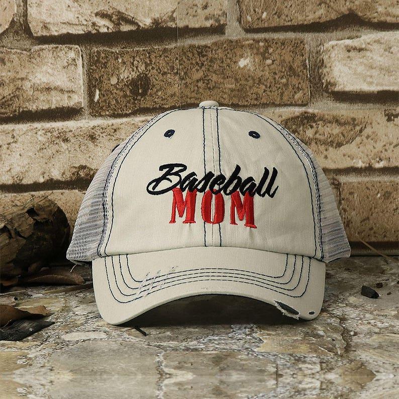 Customized Baseball Mom Twill Mesh Trucker Cap  cc22aba1279e