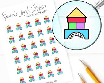 Daycare Stickers, Preschool Stickers, Planner Stickers, Calendar Stickers, Baby and Toddler Stickers, Reminder Stickers, Labels