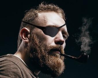 Eye patch,Dan Crenshaw Eye patch, Adult Eye patch,Leather Eye patch, Concave Eye patch,Black Eye patch, Navy Seal Eye patch, Eye, Patch, New