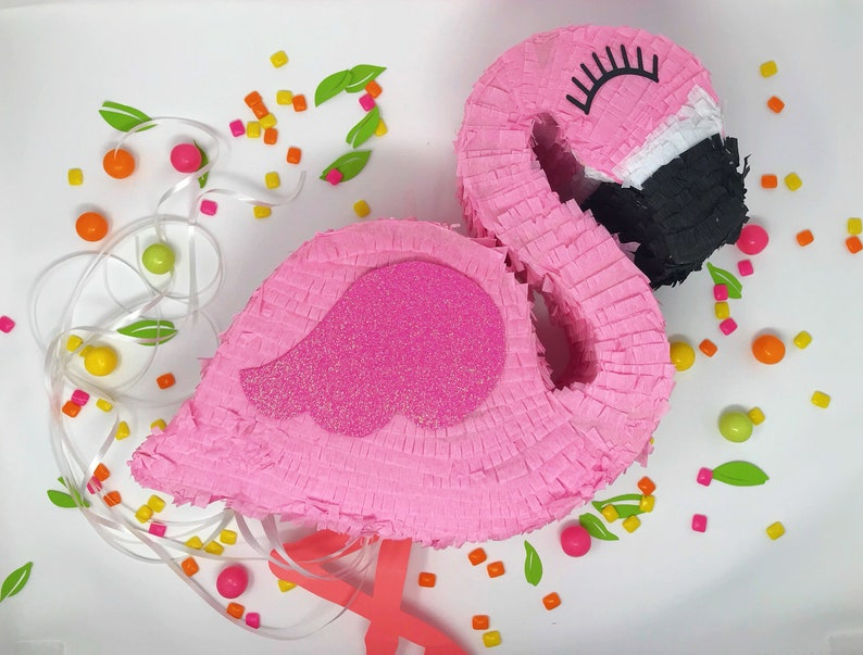 16'' flamingo piñata flamingle flamingo party luau image 0