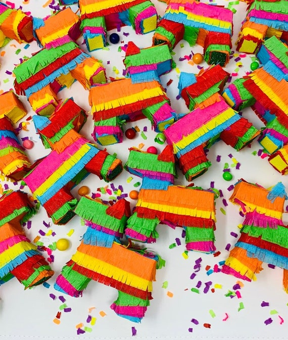 3 Pack Mini Donkey pinatas Fiestas or Mexican themed Events Mexican Pinatas for Cinco de Mayo Decorations