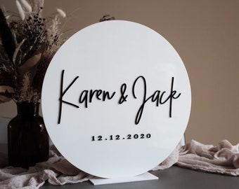 White Wedding Bride and Groom Name Sign. Welcome Sign. Wedding Decor. Ceremony Entry Signage. Wedding Keepsake Sign