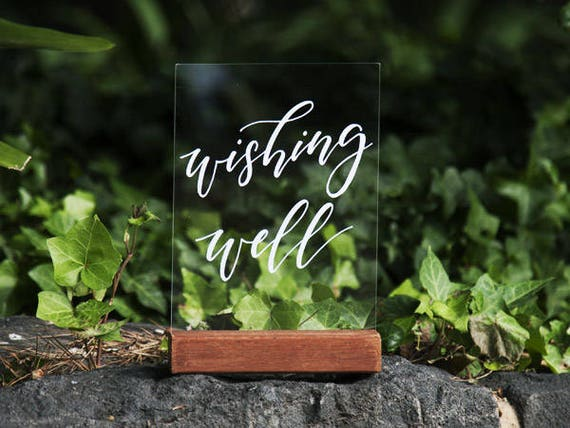 Wishing Well Sign  Clear Acrylic Wedding Signs  Gifts Signage  Decorations   Perspex Wedding Signage  Wedding Wishes  Wedding Cards