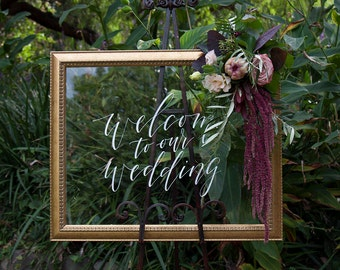 Welcome Acrylic Sign. White Wedding Perspex Signage. Welcome To Our Wedding. Unique Wedding Decor. Modern Wedding.