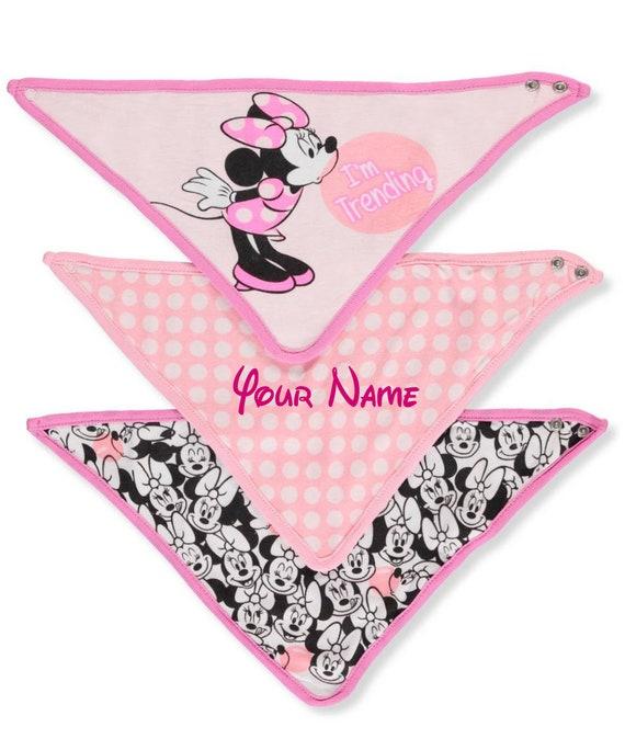 Disney Minnie Mouse 3 Piece Bandana Bibs Pink Minnie Im Trending